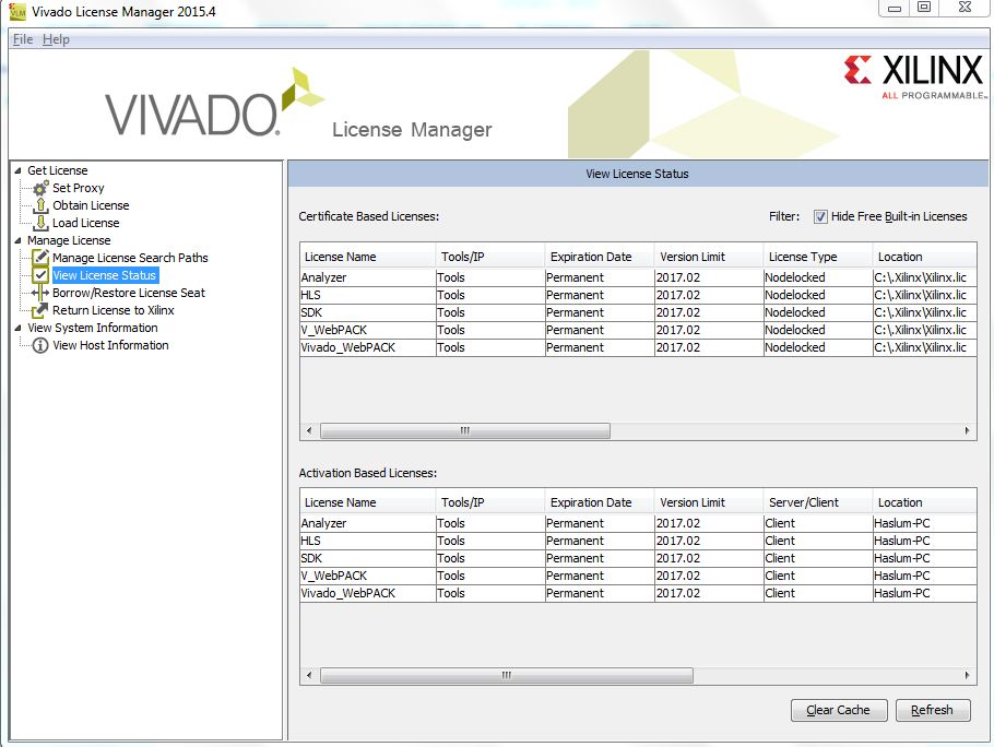 Install Vivado 2015 4 with free licens - ift